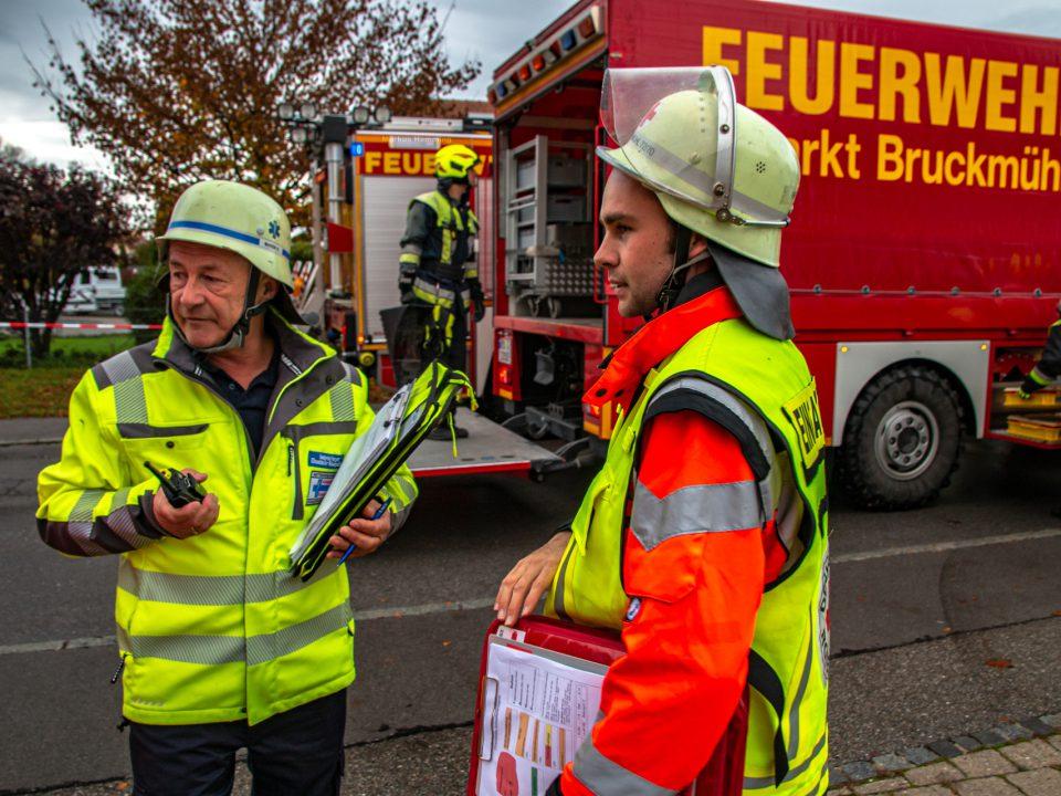 Großübung BRK Bruckmühl Ambulanz Rosenheim